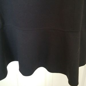 Lane Bryant Tops - LANE BRYANT NWOT BLACK PONTE KNIT PEPLUM TOP